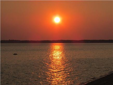 Truro Cape Cod vacation rental - Sunset from the deck