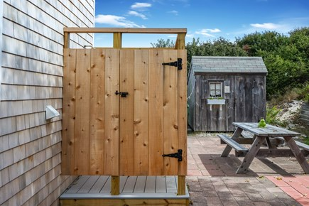 Dennis Village Cape Cod vacation rental - Patio with outdoor shower