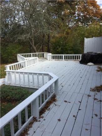 Dennis Cape Cod vacation rental - Spacious back deck with outside shower