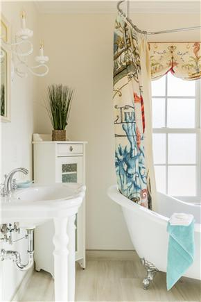 Chatham Cape Cod vacation rental - Private bathroom of the first floor bedroom with claw foot tub