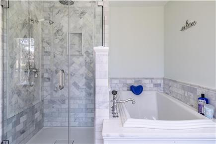 Chatham Cape Cod vacation rental - Master Bathroom with glass shower and soaking tub