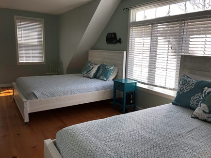 Eastham Cape Cod vacation rental - Upstairs bedroom with 2 queen beds in Quahog Cottage