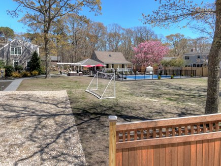 Eastham Cape Cod vacation rental - Large yard with soccer nets and volley ball court.