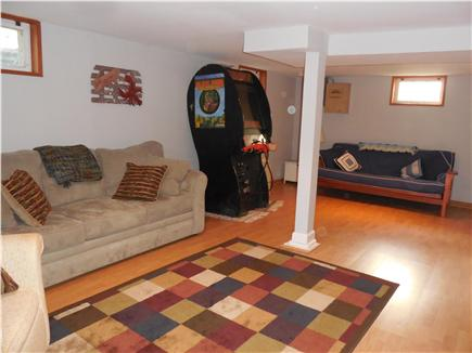 North Falmouth Cape Cod vacation rental - Basement w/ pull out couch & futon (video game now removed)