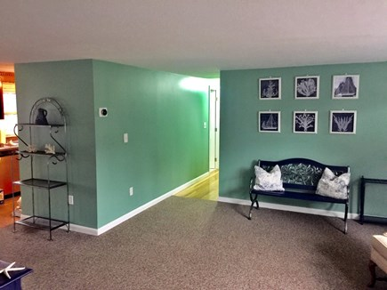 Plymouth MA vacation rental - Entry with view of hallway to bedrooms and glimpse of kitchen.
