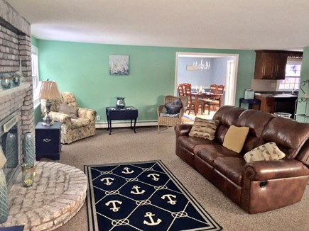 Plymouth MA vacation rental - View from Living room to Dining room/ Family room and Kitchen