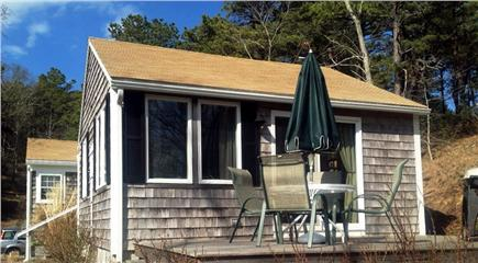 Truro, Ma Cape Cod vacation rental - Side porch with views of Pamet River, gas grill, seating for four