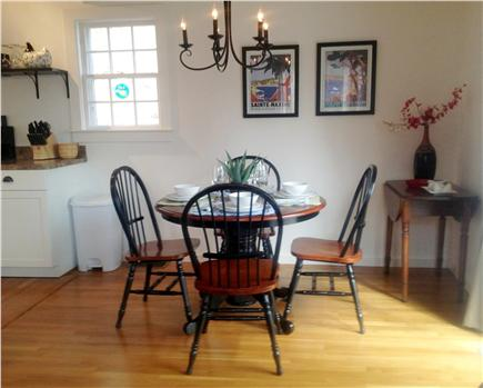 Truro, Ma Cape Cod vacation rental - Dining area open to kitchen and living room with seating for four