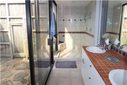 Truro Cape Cod vacation rental - Master Ensuite Bathroom - Indoor & Outdoor Shower
