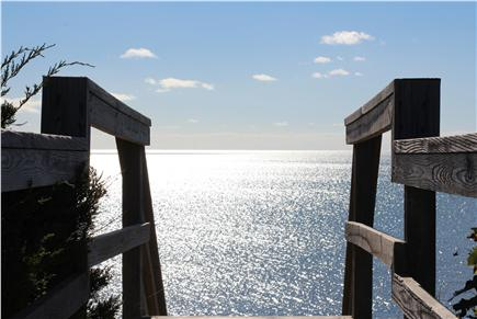 Truro Cape Cod vacation rental - Glistening View of Cape Cod Bay from Beach Stairs
