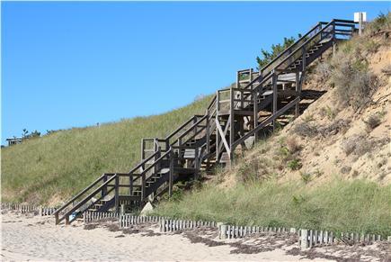 Truro Cape Cod vacation rental - Beach Stairs to Association Beach (45 steps)
