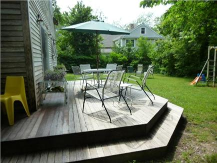 Orleans Cape Cod vacation rental - Back deck for dining and relaxing