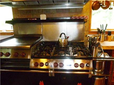 Orleans Cape Cod vacation rental - 6 Burner Wolf commercial stove w/ griddle & two ovens