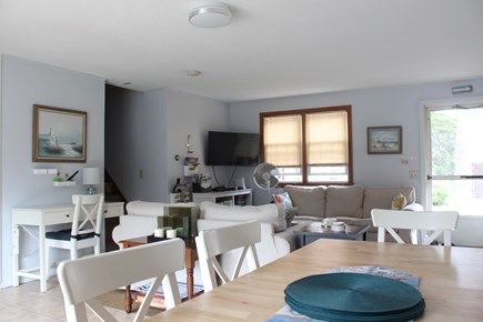 Dennis Port Cape Cod vacation rental - Large open living room.  Large dining room table, seats 10.