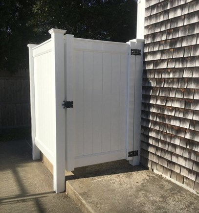 Dennis Port Cape Cod vacation rental - Private Outdoor shower with extra large change area.