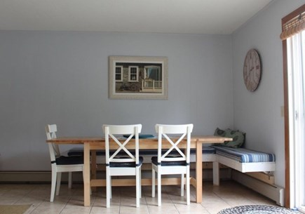 Dennis Port Cape Cod vacation rental - Dining room with extendable table and bench