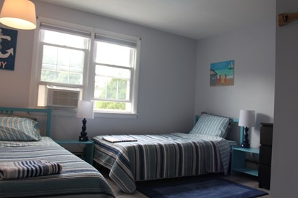 Dennis Port Cape Cod vacation rental - Bedroom 3 - two twin beds, spacious with window A/C, closet