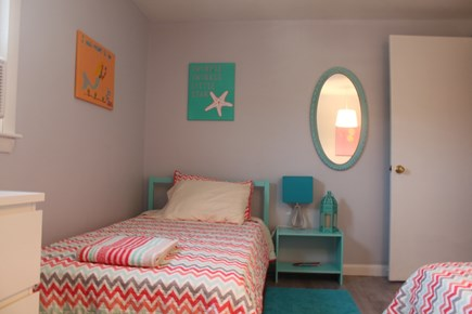 Dennis Port Cape Cod vacation rental - Bedroom 2 - two twin beds, spacious with window A/C, closet
