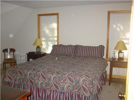 Truro Cape Cod vacation rental - King Bedroom with walk in closet, A.C. and large screen TV.