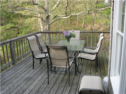 Truro Cape Cod vacation rental - Deck with dining and gas grill
