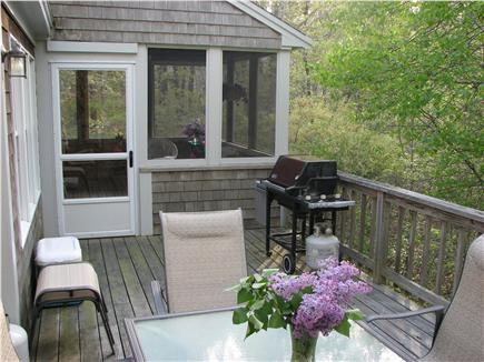 Truro Cape Cod vacation rental - Screened porch opens to full deck