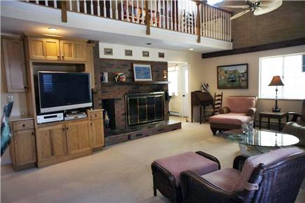 West Harwich Cape Cod vacation rental - Living Room with Flat Screen T.V. & Surround Sound