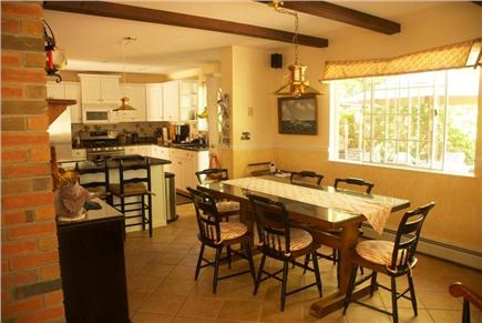 West Harwich Cape Cod vacation rental - Bright Sunny Dining Area off Kitchen