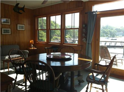 Woods Hole Woods Hole vacation rental - Sunroom with dining table and access to deck