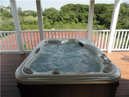 Provincetown, West End Cape Cod vacation rental - Balcony for sunning off Master Bedroom #2 next to Jacuzzi tub