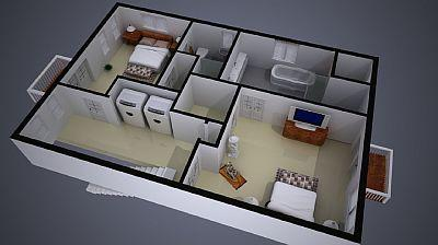 Provincetown, West End Cape Cod vacation rental - Second level floorplan