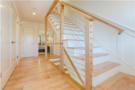 Provincetown, West End Cape Cod vacation rental - Modern staircase connects the three levels