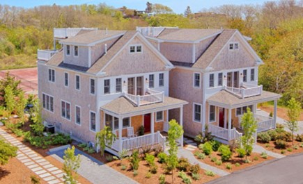 Provincetown Cape Cod vacation rental - Townhomes, both available, overlook tennis court- home on left.