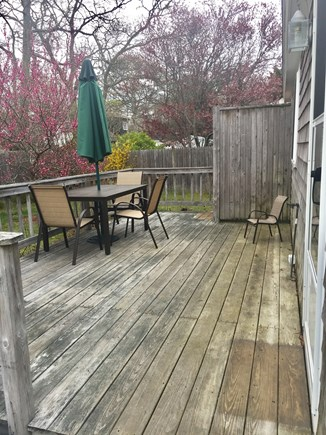 East Falmouth (Maravista Ave) Cape Cod vacation rental - Back deck - not pictured: new gas grill