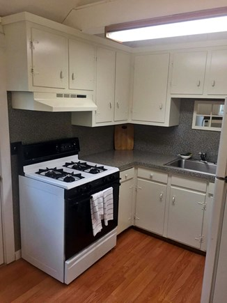 East Falmouth (Maravista Ave) Cape Cod vacation rental - Kitchen - gas stove/oven (kitchenware provided)