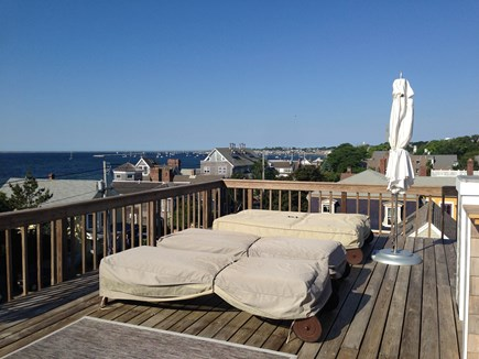 Provincetown Cape Cod vacation rental - Lounge chairs on the private roof deck.