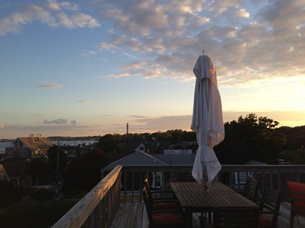 Provincetown Cape Cod vacation rental - View facing west from the roof deck, perfect for sunset.