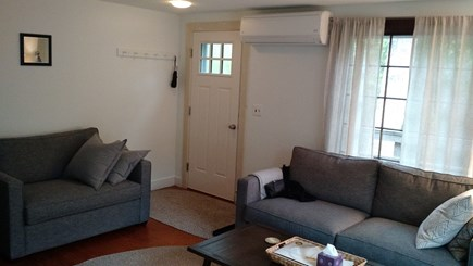 Wellfleet Cape Cod vacation rental - Living Room area with Queen & Twin Pull-out sofas and A/C.