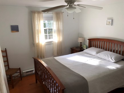 Wellfleet Cape Cod vacation rental - Queen bed with Memory foam mattress and ceiling fan.