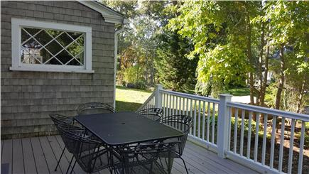 Megansett, North Falmouth Cape Cod vacation rental - Deck with gas grill and stunning ocean view