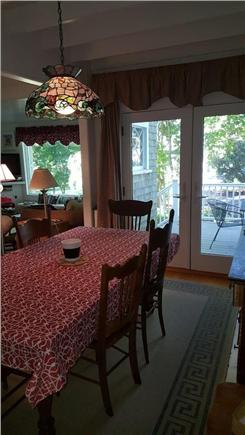 Megansett, North Falmouth Cape Cod vacation rental - Dining Area comfortably seats 6.  Double glass doors open to deck