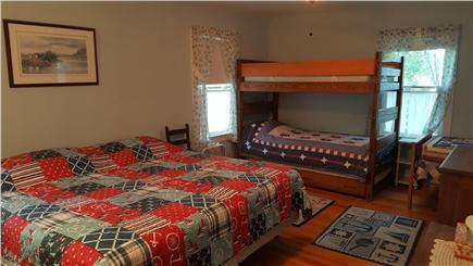 Megansett, North Falmouth Cape Cod vacation rental - Upstairs Bedroom 2.  Sleeps 6 - King, bunk beds w/trundle, twin.