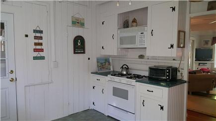 Megansett, North Falmouth Cape Cod vacation rental - Kitchen includes gas stove, microwave, toaster oven, keurig.
