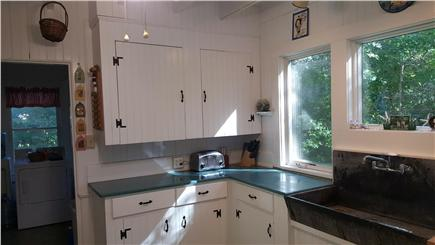 Megansett, North Falmouth Cape Cod vacation rental - Sunny kitchen with ceiling fan