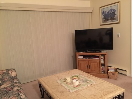 Ocean Edge, Brewster Cape Cod vacation rental - Living Room with Large Screen T.V.