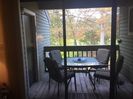 Brewster Cape Cod vacation rental - Porch with Dining Table & Chairs