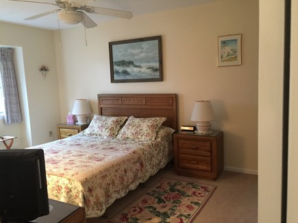 Ocean Edge, Brewster Cape Cod vacation rental - Master Bedroom w/Queen size bed and T. V.