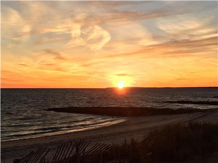 Dennisport Cape Cod vacation rental - Sunset from private beach