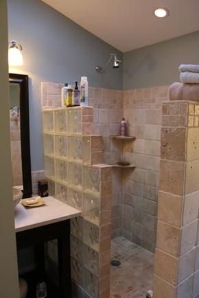 Truro Cape Cod vacation rental - Walkin tropical style shower , master suite3 bath total