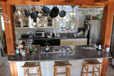 Truro Cape Cod vacation rental - Chef's kitchen and stools