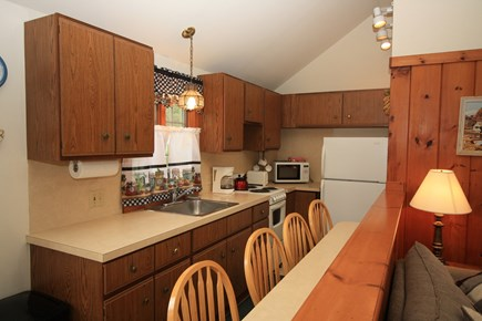 Dennis Port Cape Cod vacation rental - Tidy kitchen with a cute little sitting peninsula